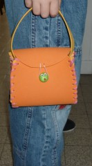 Sac mousse, orange, jaune, enfants